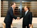 El Premier vietnamita recibe al presidente del grupo Carlyle, David  Marchik. Foto: Thong Nhat – VNA