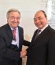 El Premier sostiene un encuentro con el secretario general de las Naciones Unidas, António Guterres. Foto: VNA