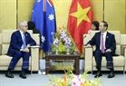 ក្នុងក្របខណ្ឌសប្តាហ៍កំពូល APEC ២០១៧ នាព្រឹកថ្ងៃទី១០ ខែវិច្ឆិកា ឆ្នាំ២០១៧ នៅទីក្រុងដាណាំង (Da Nang) លោកប្រធានរដ្ឋ ត្រឹនដាយក្វាង (Tran Dai Quang) បានជួបសវនាការទ្វេភាគីជាមួយ លោកនាយករដ្ឋមន្ត្រីអូស្ត្រាលី Malcolm Turnbull។ រូបថត៖ ទីភ្នាក់ងារសារព័ត៌មានវៀតណាម