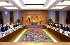 越南国会主席阮氏金银与俄联邦委员会主席瓦莲京娜•伊万诺芙娜•马特维延科会谈。越通社记者 仲德
