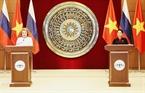 越南国会主席阮氏金银与俄联邦委员会主席瓦莲京娜•伊万诺芙娜•马特维延科出席新闻发布会。越通社记者 仲德 摄