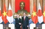 짠다이광(Trần Đại Quang)국가주석이 아키히토(明仁) 일왕을 맞이하고 있는 모습. 사진:응웬단(Nguyễn Dân)/베트남 통신사