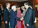 Trước đó, vào chiều ngày 3/3, Chủ tịch nước Trần Đại Quang và Phu nhân đã đến tiễn Nhà vua và Hoàng hậu rời Thủ đô Hà Nội, lên đường thăm Cố đô Huế. Ảnh: Nhan Sáng/TTXVN