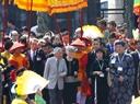 日本天皇明仁和皇后参观顺化大内。越通社记者 胡球 摄