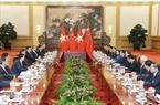 시진핑(習近平) 중국 국가주석 겸 공산당 총서기와 잔다이꽝(Trần Đại Quang)국가주석이 회담을 가지고있다. 사진:난상(Nhan Sáng)/베트남 통신사