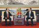 잔다이꽝(Trần Đại Quang)국가주석이 Sunwa(홍콩)그룹 회장과 만남을 가지고있다.사진:난상(Nhan Sáng)/베트남 통신사