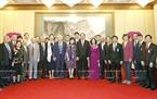 잔다이꽝(Trần Đại Quang)국가주석이 중국 학자들과 중국-베트남 친선위원회와 만남을 가지고있다. 사진:난상(Nhan Sáng)/베트남 통신사