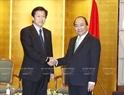 PM Nguyen Xuan Phuc receives Chairman of the Committee on Security Tsuyoshi Yamaguchi. Photo: Thong Nhat /VNA