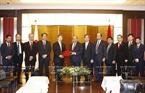 6月6日下午,政府总理阮春福接见日本国际协力机构(JICA)主席北冈伸一(Shinichi Kitaoka)。越通社记者统一摄