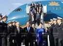2015年7月5日、グエン・スアン・フック首相と夫人、ベトナム代表団はドイツ訪問を始め、20カ国・地域(G20)首脳会議に出席するために、ドイツのFrankfurt空港に到着した。撮影:トン・ヌアットーベトナム通信社