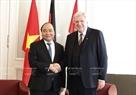 2017年7月5日、 Volker Boufflerヘッセン州の指導者と会見するグエン・スアン・フック首相。撮影:トン・ヌアットーベトナム通信社