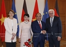 Prime Minister Nguyen Xuan Phuc met with German President Frank-Walter Steinmeier in Berlin on July 6 during his current working visit to Germany. Photo: Thong Nhat / VNA
