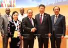20カ国・地域(G20)首脳会議のエリアにおいては、2017年7月8日の午後、グエン・スアン・フック首相はドイツのハンブルクで 習近平中国書記長・主席と会見した。撮影:トン・ヌアットーベトナム通信社