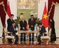 The two leaders witness the signing of MoU on coal cooperation Vietnam's Ministry of Industry and Trade and Indonesia's Ministry of Energy and Mineral Resources. Photo: Tri Dung/VNA