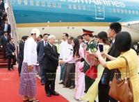 越共中央总书记阮富仲访问缅甸