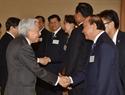 2018年10月9日の午後、東京で、グエン・スアン・フック首相と第10回の日本・メコン協力首脳会議に出席する各団長は明仁天皇に謁見した。撮影:ベトナム通信社