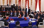 2018年10月9日の午前、東京で開かれた第10回の日本・メコン協力首脳会議に出席するグエン・スアン・フック首相。撮影:トン・ニャットーベトナム通信社