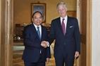Durante su visita oficial a Bélgica, el 18 de octubre, el primer ministro Nguyen Xuan Phuc se reunió con el rey Philippe de Bélgica. Foto: Thong Nhat - VNA