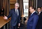 El 17 de octubre, en Bruselas, el primer ministro Nguyen Xuan Phuc recibió al ministro-presidente de Flandes, Geert Bourgeois. Foto: Thong Nhat - VNA