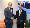 The leader of Vietnam also had a meeting with Mayor of Auckland Phil Goff on March 12. Photo: Thong Nhat/VNA