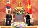 On March 23, National Assembly Chairwoman Nguyen Thi Kim Ngan met with President Moon Jae-in. Photo: Trong Duc / VNA.