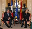 On March 26, the Party chief also met with President of the Senate of France Gérard Larcher. Photo: Tri Dung / VNA