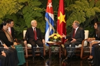 Party General Secretary Nguyen Phu Trong holds talks with First Secretary of the Central Committee of the Communist Party and President of Cuba Raul Castro Ruz. Photo: Tri Dung/VNA