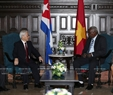 Party General Secretary Nguyen Phu Trong had a meeting with Chairman of the Cuban National Assembly Esteban Lazo Hernandez in Havana on March 29. Photo: Tri Dung/VNA