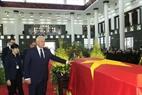 Đoàn Cộng hòa Belarus, do Chủ tịch Thượng viện Mikhail Myasnikovich làm Trưởng đoàn, viếng Chủ tịch nước Trần Đại Quang. Ảnh: Nhan Sáng – TTXVN.