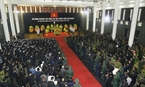 The memorial service for President Tran Dai Quang was held at the National Funeral Hall, No. 5 Tran Thanh Tong Street, Hanoi, on September 27. Photo: VNA