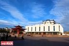 На центральной площади города Кызыла. Фото: Чан Хьеу