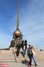 """Веха """"Центр Азии"""" является символом географического центрa Азии и находится в Кызыле. Фото: Чан Хьеу"""