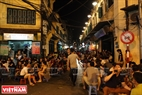 Ta Hien Street is a meeting place for visitors from all over the world.