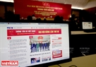Vietnam News Agency's website, the main source of information and images on activities of the congress, is frequently visited. Photo: Trong Chinh
