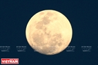 Theo giới thiên văn học, đây là hiện tượng thiên văn kỳ thú nhất trong vòng 68 năm qua. Siêu trăng xuất hiện trên bầu trời với kích thước lớn hơn và sáng hơn so với mặt trăng lúc bình thường. Ảnh: Thanh Giang