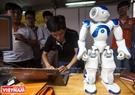"""Một sản phẩm robot điều khiển từ xa được giới thiệu tại liên hoan """"Tuổi trẻ sáng tạo"""" Tp. Hồ Chí Minh lần VII – Năm 2016."""