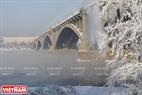 Cầu Kommunalny – một biểu tượng của thành phố Krasnoyarsk. Ảnh: Trần Hiếu