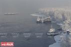Enisey là con sông duy nhất ở Siberia không đóng băng trong mùa đông. Ảnh: Trần Hiếu