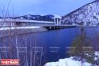 Hồ chứa nước của nhà máy thủy điện Mainsk trên sông Enisey. Ảnh: Trần Hiếu