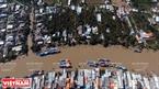 Toàn cảnh làng cá xã Bình Thắng, huyện Bình Đại, tỉnh Bến Tre.