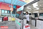 "Considered  a ""mobile laboratory"", the vehicle help staff to quickly check food quality."