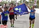 Une atmosphère joueuse domine tout le parcours de la course: