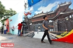 Billboards of national heritage site are installed in the street.Photo: Thanh Hoa/VNP