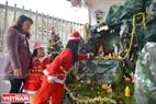 Năm nào cứ đến mùa Noel gia đình chị Nhị Thanh ở giáo phận Phủ Cam cũng dành thời gian trang hoàng nhà cửa và làm hang đá để các con vui đón Giáng sinh. Ảnh: Thanh Hòa