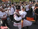Romanian artists introduces to the festival their traditional dances.