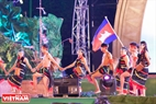Artists from Cambodia perform a traditional dance.