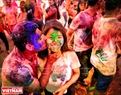 The Holi festival celebrates the beginning of spring and makes people feel closer. Photo: Tran Hieu/VNP