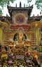 The procession of the Buddhist statue starts from Quan Su pagoda and travels through nearby streets.