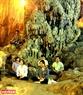 Du khách hành hương về Hương Tích chiêm bái Phật và dành những phút giây thiền định thư thái tâm hồn giữa không gian động đẹp như chốn bồng lai tiên cảnh. Ảnh: Trần Hiếu