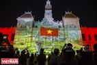 A music program with 3D light in Ho Chi Minh City. Photo: Thong Hai